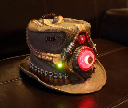 CONUNDRUM STEAMPUNK TOPHAT in copper/brown by Faust-and-Company