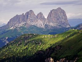 View of the Sassolungo by Sergiba