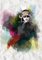 Lady Gaga Watercolor Art by JeasrpPs