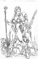 Teela v1 pencils by Kevin-Sharpe