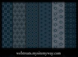 6 Midnight Blue Patterns by WebTreatsETC