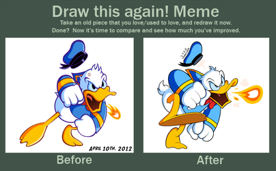 Before and After with Donald Duck by JamesmanTheRegenold