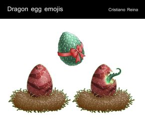 Dragon eggs - icons by CristianoReina