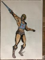 He Man drawn as part of daily sketch challenge by mrinal-rai