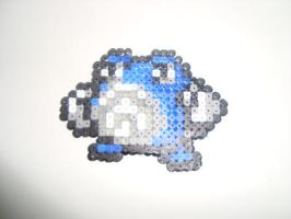 mini Poliwhirl with Hama Beads by KimiMonsterKitty