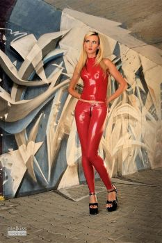 Danca Red Tights Red Top 01 by malkiss