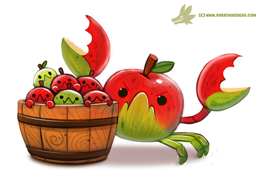 Daily Paint #1196. CrabApples by Cryptid-Creations