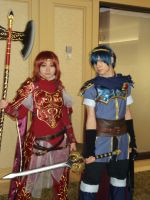 Minerva and Marth by katriona-katarina