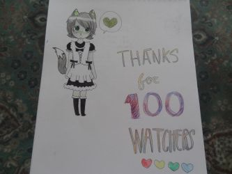 Thanks For 100 Watchers by woot4anime64