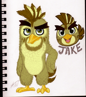 ANGRY BIRDS Jake REF SHEET by KasaraWolf