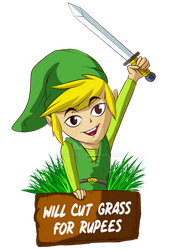 Will Cut Grass For Rupees by avafury