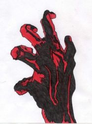 Creepy Hand Self Portrait by Rapter57