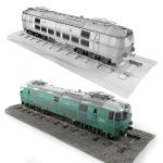 Pafawag 201E ET 22 Electric Train by W-Art3D