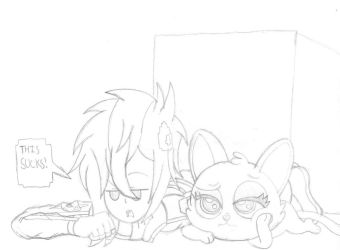 Trying to land on their feet (Sketch) by PiplupSTARSCommander