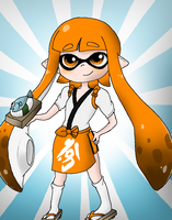 Inkling Girl Sushi Chef Outfit by Rotommowtom