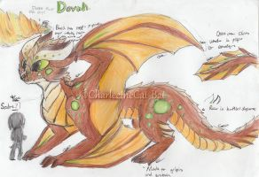 {Ref Sheet} Dovah by CharleetheCat-Bat