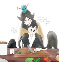 Kuzuri And His Mother by shorty-antics-27