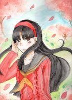 Yukiko and the Cherry Blossoms by WaffleMint
