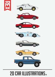 Car Illustraions (V4) by Axle9