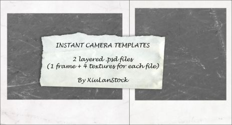 Instant Camera Templates by XiuLanStock