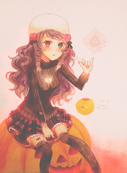 Anninktober Day 1 - Pumpkin carving by Lanahx3