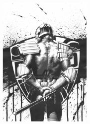 2000AD Prog 1986 cover (Original Inks) by TomRFoster