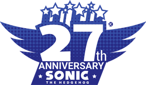 Sonic 27th Anniversary Logo by SpeendlexMK2