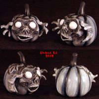 Haunt Pumpkin decoration ghost by Undead-Art