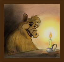 Alf- Melmacian Meets Christmas by theblindalley
