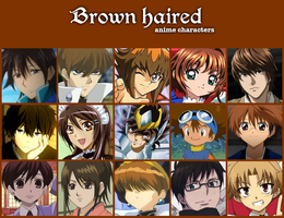 Brown haired anime characters by jonatan7