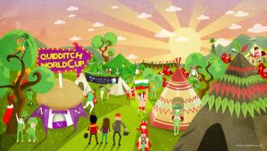 Harry Potter : Quidditch World Cup campsite by Chapet