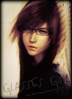 Glasses Girl by unknownimouz15