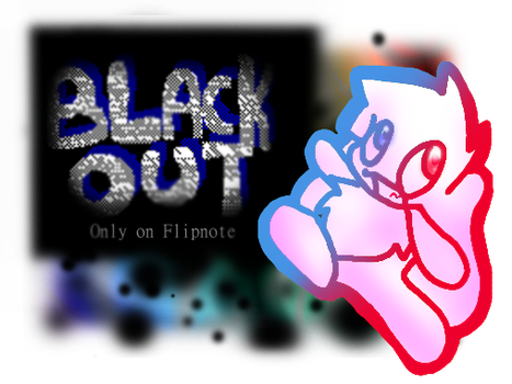 Black out poster by Pupom