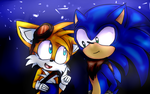 Tails and Sonic by KatyTheKillerBr