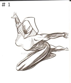 spider gwen sketch #1 by lenlenlen1