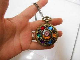 Sailor Moon Locket Brass Pocket Watch necklace by leanna18