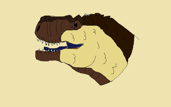 Bored at school T-rex head by AquaDestroyer
