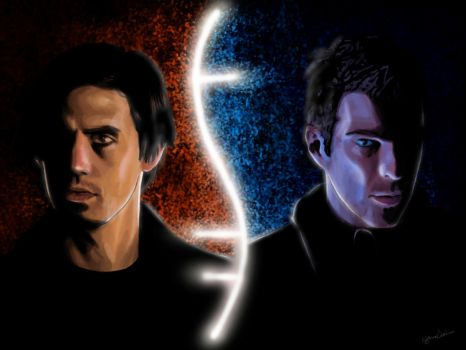 Sylar VS Peter by tamaho