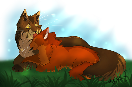 Bramble And Squirrel by Soft--Cookie