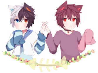 The Nekomimi Brothers || by Reo-chii