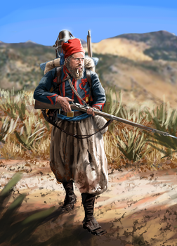 French Zouave 1870-1871 campaign outfit by ManuLaCanette