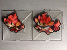 #513-#514 Pansear and Simisear Perlers