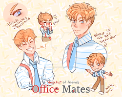 |officemates| mr. paper concept doodles by refinedgluttony
