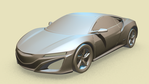 NSX Concept Car - Retopology WIP by RegusMartin