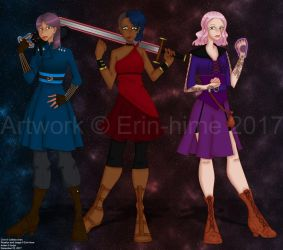 Cirin, Roselyn, and Arden by erin-hime
