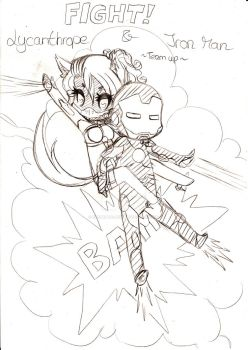 Lycanthrope and Iron Man team up by ErementalSoul