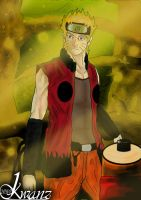 Naruto in the forest by kwanzantora