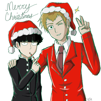 {SS} Mob and Reigen by Xiapharre
