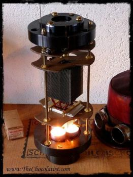 The thermoelectric Steampunk Radio by thechocolatist