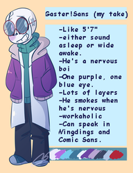 G!Sans but it's my take by Sheepaleepz